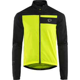 PEARL iZUMi Elite Escape Barrier Chaqueta Hombre, black/screaming yellow